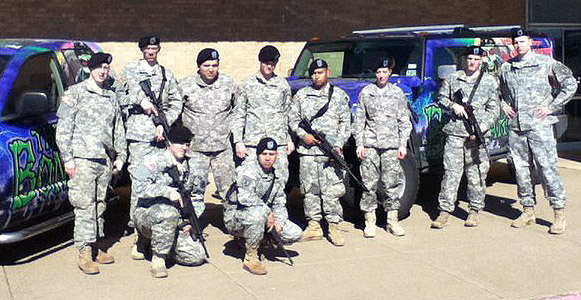 Soldiers from the 302nd Military Police Unit