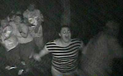 Lady running and screaming at Haunted House in Dallas - Haunted House pictures