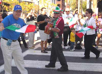 Columbus Day crowd during Parade.