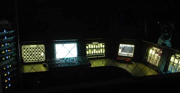 High Tech Haunted House Control Room - State of the Art Digital animation control.