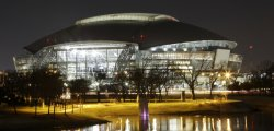 Cowboy Stadium in Arlington, Texas at night